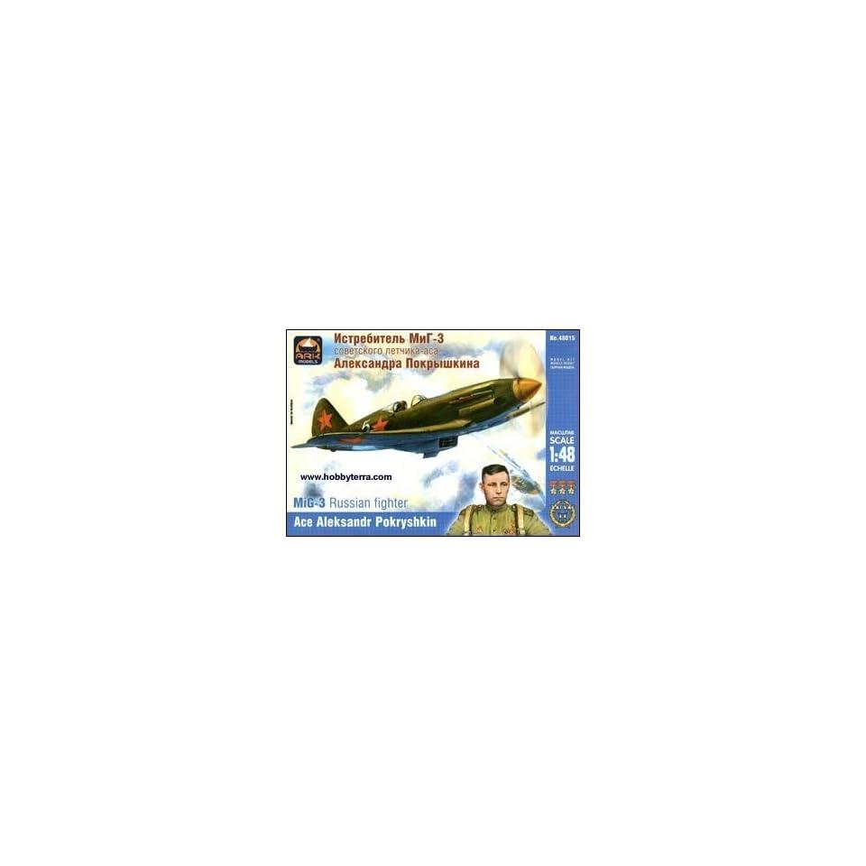 MiG 3 WWII Russian Fighter (Ace Pilot A. Pokryshkin) 1 48 Ark
