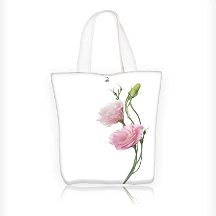 78d1b7752a42 Amazon.com: Ladies canvas tote bag two pale pink flowers isolated on ...