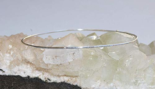 Hammered Silver Bangle - Thin Sterling Silver Hammered Bangle