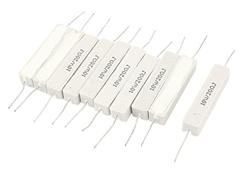 Power Resistors 10w - uxcell Wire Wound Ceramic Cement Power Resistor (10pcs 10W 20 Ohm)