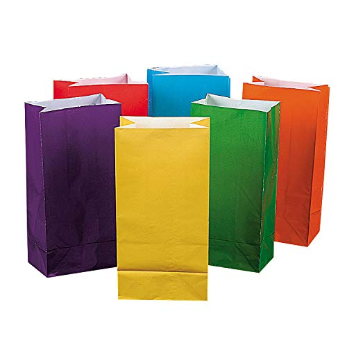 Bright Color Paper Bags (1 Dozen) - Bulk [Toy] by Fun Express]()