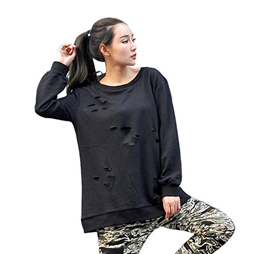 Pizoff Women Unisex Side Split Big Drop Tail Long Sleeve Jersey Sweat Top T Shirt P3265-F-black-XXL