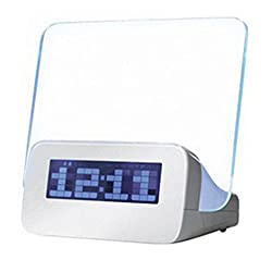 S'beauty Backlight LED Message Board With Highlighter Digital Alarm Clock