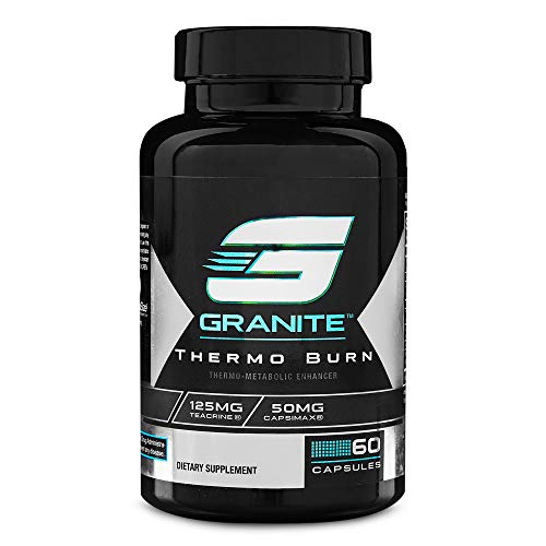Fat Burner by Granite Supplements | 60 Capsules of Thermo Burn for Appetite Control, Energy Elevation, and Thermo-Genesis | Includes Infinergy, Theacrine, and Capsimax