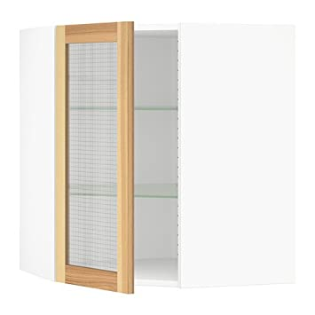 Amazon Ikea Corner Wall Cabinet With Glass Door White Torhamn