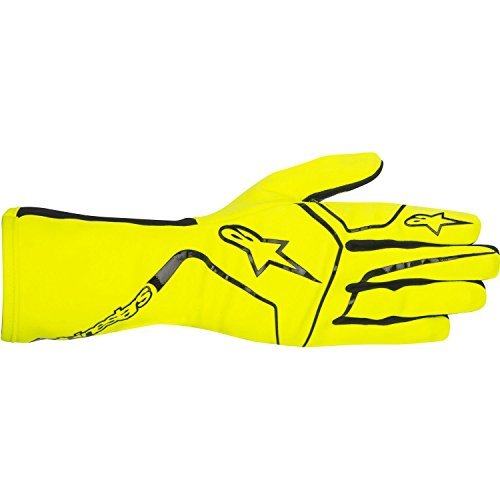 Alpinestars 3552717-551-L YTH Tech 1-K Race Gloves, Yellow Fluorescent, Size L