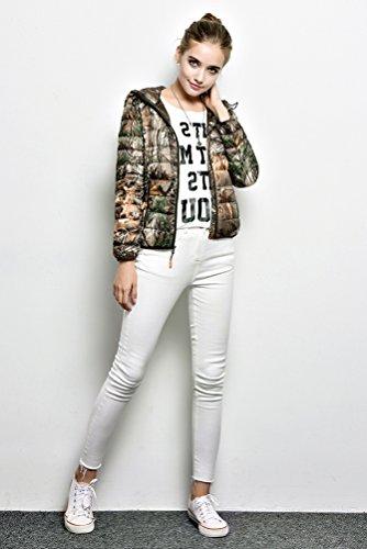 Court Femme Camouflage Légère Automne Veste Chengyang Manteau Sport Hiver Doudoune Blouson À Pour Capuche Chaud Ultra 8ngZqp