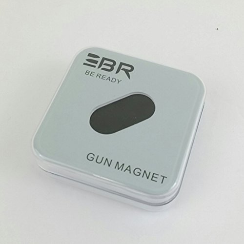 Be Ready Magnetic Gun Magnet Mount For Vehicle And Home - 20 Lbs Rated - Concealed Holder For Handgun, Rifle, Shotgun, Pistol, Revolver, Truck, Car, Wall, Vault, Desk, Table Brand (Single)