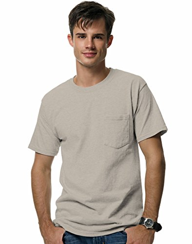 Hanes Beefy-T Adult Pocket T-Shirt, Sand, XL