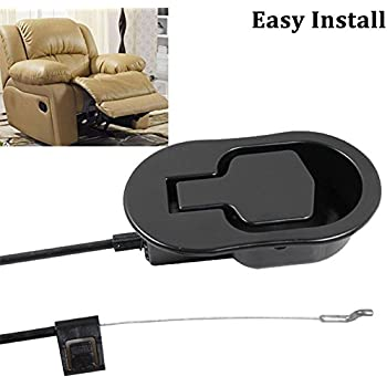 FOLAI Recliner Replacement Parts - Universal Black Metal Pull Recliner Handle with Cable - fits Ashley  sc 1 st  Amazon.com & Amazon.com: Choice Parts - Black Recliner Cable with Release ... islam-shia.org