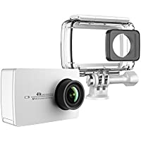YI 4K Action Camera with Waterproof Case Pearl White