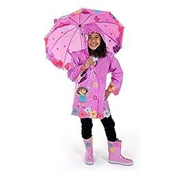 Kidorable Dora The Explorer Raincoat WITH Umbrella (2T)