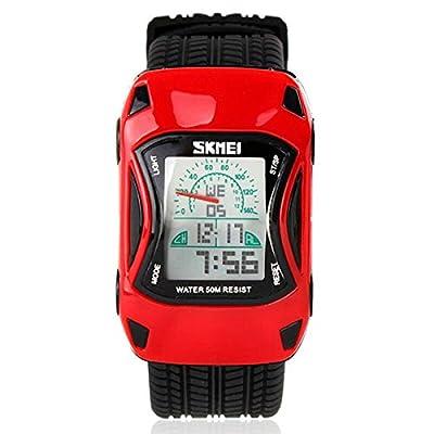 Kid Watch LED Sport 50M Waterproof Multi Function Digital Wrist Watches for Boy Girl Children car Watch Gift