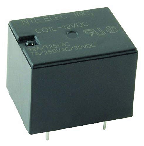NTE Electronics R46-5D12-6 Series R46 General Purpose DC Mount Relay, SPDT Contact Arrangement, 12 Amp, 6VDC