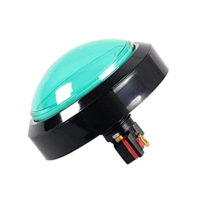 EG STARTS 4 Inches Arcade Buttons 100mm Larger Big Dome Convex Type LED Lit Illuminated Push Button for Compatible Arcade Machine DIY Kit & Raspberry Pi Game Part ( Green ): Toys & Games