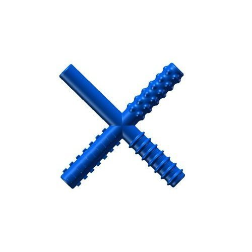 CHEW STIXX CS1000 Sensory University Original Non Flavored Chew Stick, 0.63 Height, 4 Width, 4.75 Length, Blue 0.63 Height 4 Width 4.75 Length THE SENSORY UNIVERSITY