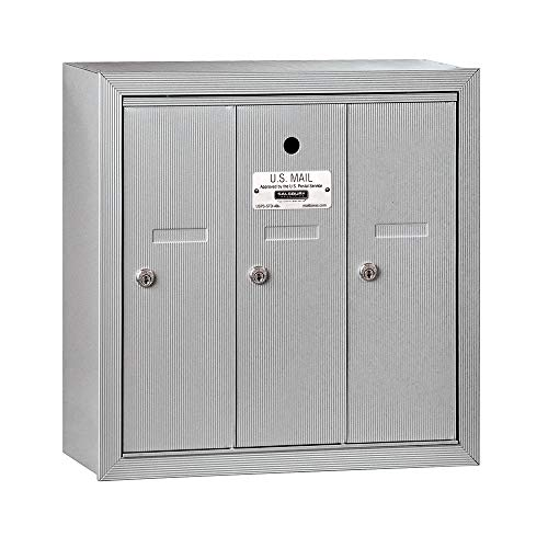 Salsbury Industries 3503ASU Surface Mounted 3 Doors and USPS Access Vertical Mailbox ()