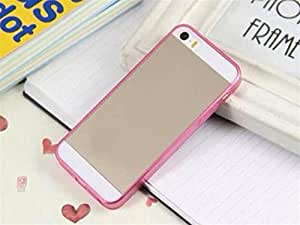 Hot Sale Transparent Crystal TPU Shell Silicone Soft Case for Iphone 4 4s Pink Color