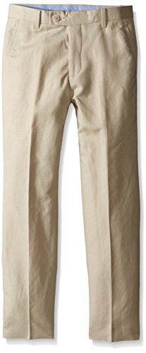Nautica Big Boys' Linen Pant, Stone, 14