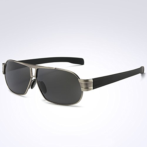 gafas sol polarizadas Hombre TIANLIANG04 negro sol C1 Hombre tonos Frame de Gafas de gafas hombre marco gafas de UV400 C2 sol Gun 4xI4wgqz0