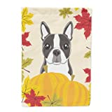 Caroline's Treasures BB2009GF Boston Terrier Thanksgiving Garden Flag, Small, Multicolor Review