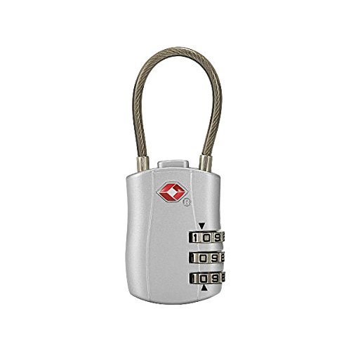 Suitcase Luggage Locks - Luggage Travel Lock - KC-JC168 Travel TSA Luggage Lock 3 Digit Combination Suitcase Locks - Silver (Digital Luggage Lock) by Unknown
