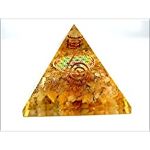 Jet Golden Quartz Flower of Life Orgone Pyramid Christmas Tower Buster Piezo Electric EMF Protection Generator Frequency Ions Tested Cloud Chem Buster A++