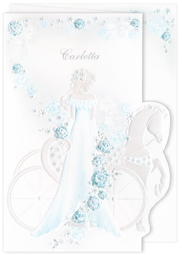 amazon com blue blank quinceanera invitations girl carriage aqua