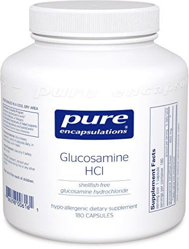 Pure Encapsulations - Glucosamine HCl - Shellfish-Free Glucosamine Hydrochloride - Hypoallergenic Supplement Support for Healthy Joint Function* - 180 Capsules (Hcl Glucosamine)