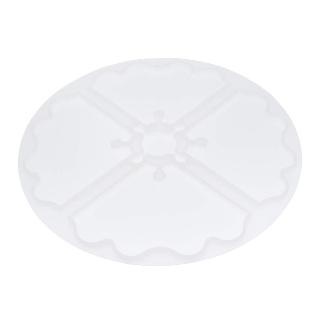 Epoxy Resin DIY Resin Molds Cup Mat Mould Tool Silicone Ornament Round Coaster Mold for Polymer Clay Crafting Dried Flower 230mm