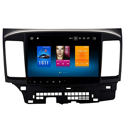 Dasaita Android 8.0 Car Stereo for Mitsubishi Lancer without Factory Rockford System 2008 to 2017 GPS Navigation Radio 10.2 Inch Screen Review