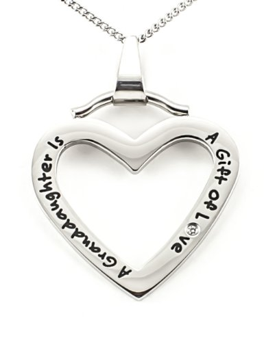 Polished Stainless Granddaughter Pendant Necklace product image
