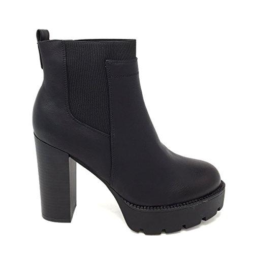 Jecko shoes - Botas de Material Sintético para mujer Negro negro