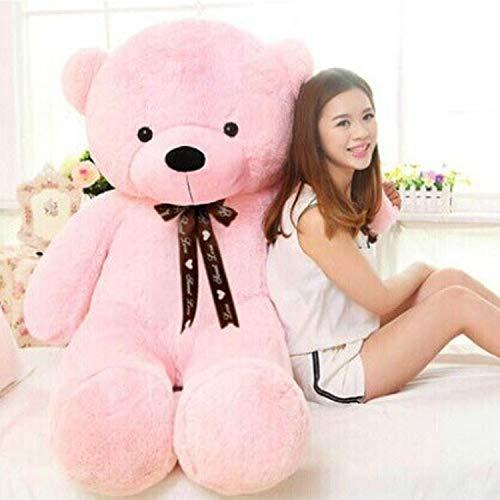 Egyptian Giant Teddy Bear Kawaii Big 60cm 80cm 100cm 120cm Stuffed Soft Plush Toy Large Embrace Bear Chrildren Kids Doll Birthday Gift for Girlfriend Pink Brown (Pink, 80CM) from Egyptian