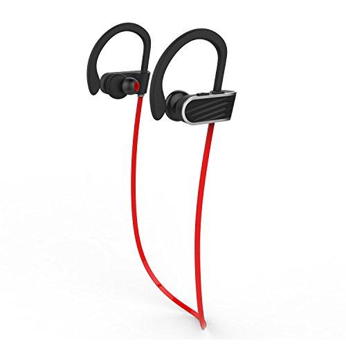 Toogoo Best Wireless Sport Headphones w/Mic IPX7 Waterproof