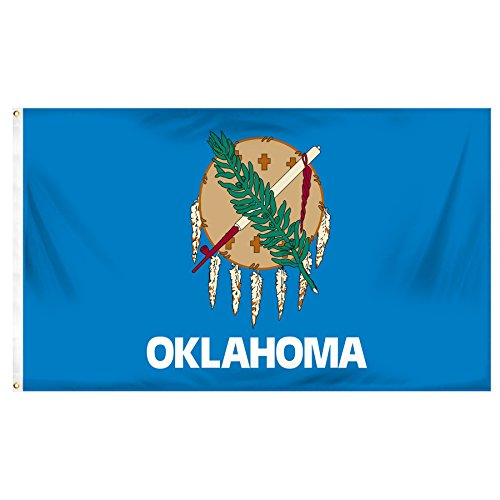Online Stores Oklahoma Printed Polyester Flag, 3 by -
