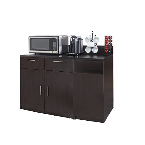 Coffee Kitchen Lunch Break Room Cabinets Model 4284 BREAKTIME 2 piece group Color Espresso - Factory Assembled (NOT RTA) Furniture Items ONLY. by Breaktime (Image #2)