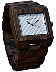 The Garwood Indonesian Sandalwood Watch – Domino – Square – Analog – 12-Month Warranty