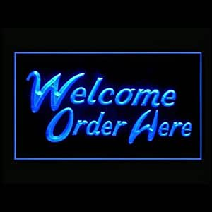 Welcome Order Were Advertising LED Light Sign