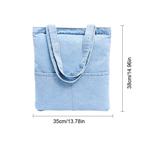 Shoulder Tote iShine Women's Retro Handbag Denim Style Casual Bag Bag Jeans 6 ZZt8Fqwa