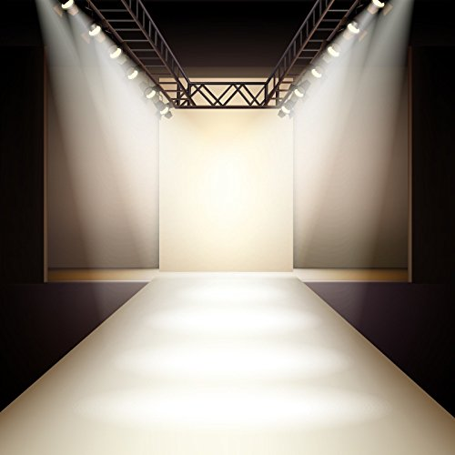 Baocicco Fashion Runway Spotlight Illuminated Backdrop 10x10ft Photography Background Lamp Sparking Silver T Stage Catwalk Fashion Show Business Clothes Collection Event Party ()