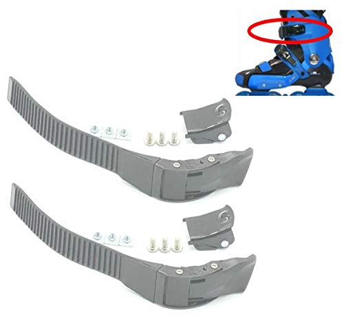 2 Pieces Replacements Inline Roller Skating Shoes Energy Strap with Screws Nuts Skates Buckles Accessory Part