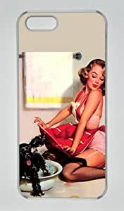 Pin Up Girl 001 Iphone 5 5S Hard Shell with Transparent Edges Cover Case by Lilyshouse