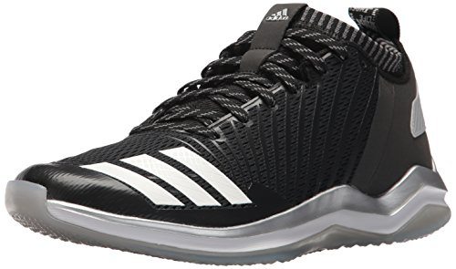(adidas Men's Freak X Carbon Mid Baseball Shoe, Black/White/Onix, 13 Medium US)