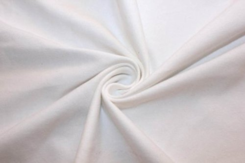 (Cotton Lycra Jersey Knit Solid 2-Way Stretch 95% Cotton 5% Spandex Soft Fabric By The Yard (White))
