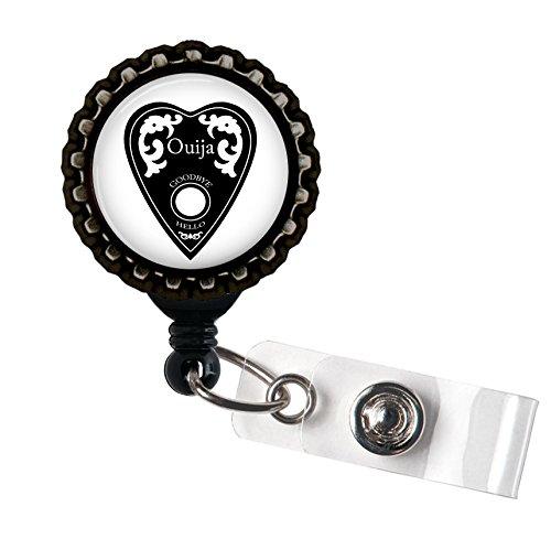 Black Ouija Planchette Retractable ID Tag Badge Reel (Coupon Spirit Halloween)