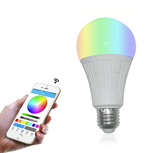 Teepao Wifi Bulb Dimmable, Multicolor Voice Controlled Light Smart Led Bulb Including 16 Million Color Light Work with Amazon Echoã€Echo Dotã€Amazon Tap(50w Equivalent,18 Led Light Beads) by Teepao