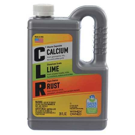 CLR Calcium, Lime & Rust Remover, 28 oz. Bottle Pack of 5 by CLR