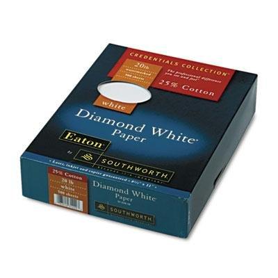 Brand New Southworth 25% Cotton Diamond White Business Paper 20 Lbs. 8-1/2 X 11 500/Box
