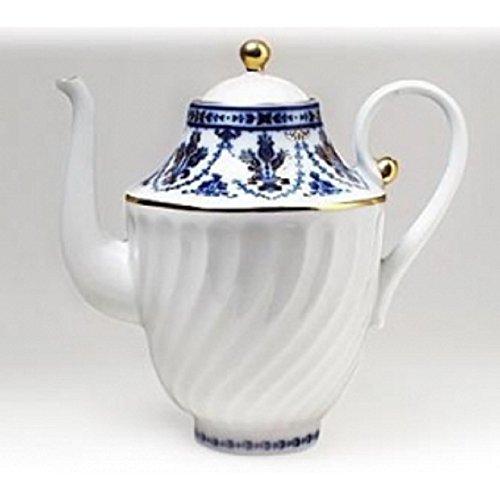 Ornamental, Household, Decor, Ceramic,Lomonosov porcelain 'Cobalt Frieze' Coffee Pot (Cobalt Coffee Pot)
